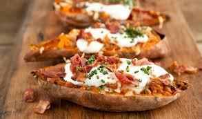 baked sweet potato recipes. Contemporary Baked Cheesy Baked Sweet Potatoes And Potato Recipes