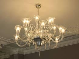 murano calla lily chandelier