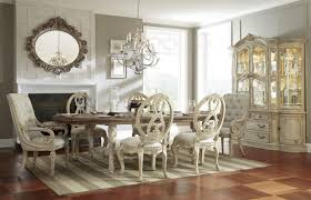dining room tables oval. Unique Room American Drew Jessica McClintock Boutique Oval Dining Table Set  WUpholstered Chairs In White Veil On Room Tables A