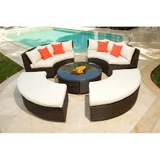 brown set patio source outdoor. Wonderful Source Outdoor Circa All Weather Wicker Round Conversation Set Patio Sets At Hayneedle Brown E