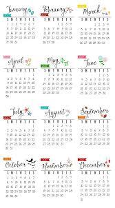 free printable 2017 calendar