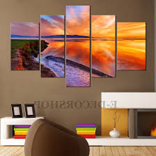 2018 big w canvas wall art within large canvas wall art sunset 5 piece canvas on canvas wall art big w with view gallery of big w canvas wall art showing 5 of 15 photos
