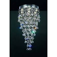 plc lighting beverly polished chrome crystal flush mount ceiling light
