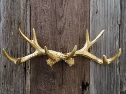 Horn Decorative Accessories Accessories Delightful Image Of Wooden Stag Head Iron Antler Coat 42