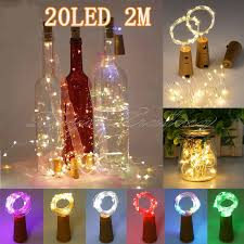 details about 15 led cork shaped night starry light wine bottle lights for party hot