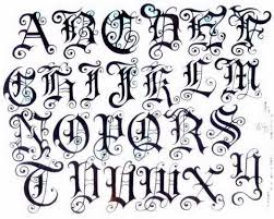 Lettering Font Style Old English Lettering Font Resume Cover
