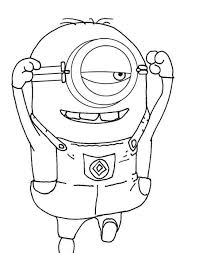 Small Picture Despicable Me Coloring Pages Minion For Kids Free Cartoon