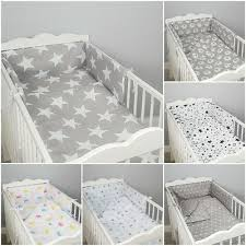 3 pc luxury cot cot bed baby bedding
