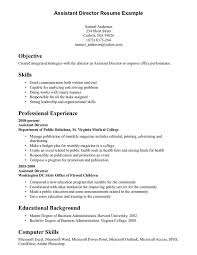 skill in resume example