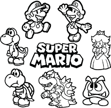Super Mario Coloring Pages Fresh Coloring Pages To Print Cool Paper