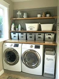 shelving ideas for laundry room laundry room ideas laundry room makeover wood counters tin totes pull shelving ideas for laundry