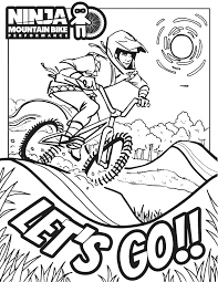Teenage mutant ninja turtles coloring pages. Ninja Coloring Pages Ninja Mountain Bike Performance