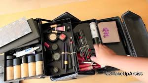 what s in my professional makeup kit traincase for freelance work you