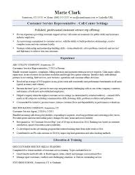 Customer Service Representative Resume Sample Monster Inside Resume