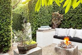 garden fire pit. Garden With Built In Sofa And Rustic Firepit View Full Size Fire Pit