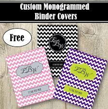 Editable Binder Cover Templates Free Free Printable Monogram Binder Covers No Download Download Them Or