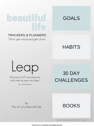 Day Tracker Planner The Leap Journal Ultimate Goal Planner Tracker For A Beautiful