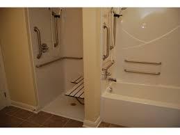 appealing handicap shower bars 5 decoration ideas breathtaking design using rectangular white wooden bench and bathtubs