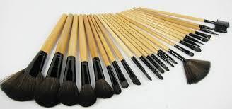 material wooden quany 24 pcs size 24 pcs per pack handle material wood brush material goat hair kolinsky hair used sets kits color black