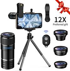 <b>Telephoto lens kit</b>, 4 in 1 Cell Phone Camera Lens, <b>12X</b> Telephoto ...