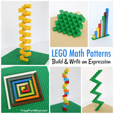 Lego Patterns New LEGO Math Patterns Build And Write An Expression Frugal Fun For