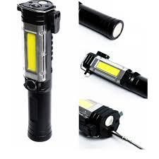 Đèn pin siêu sáng đa năng,phiên bản NHÔM KIM LOẠI,có đèn XPE , đèn COB, có  búa cứu hộ, có dao móc,có nam châm.