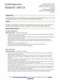 Forklift Operator Resume Samples Qwikresume