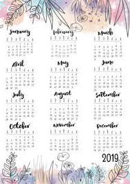 At A Glance Yearly Calendars 2019 Year At A Glance Calendar Journal Calendar 2019