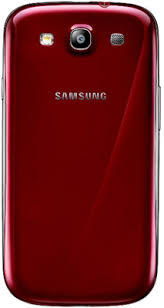 samsung phone back. samsung galaxy s iii back view - red phone