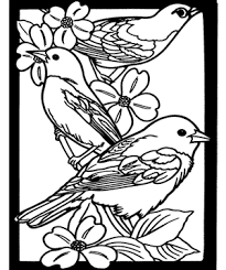 free coloring page favorite birds stained gl coloring book free crafts for kids dover coloring books misterart