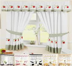 ... Delightful Kitchen Decoration With Various Kitchen Curtain Pattern :  Enchanting Kitchen Decoration With Kitchen Window Treatment