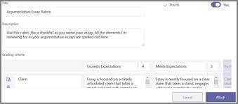 Rubric Template Microsoft Word Create And Manage Grading Rubrics In Microsoft Teams