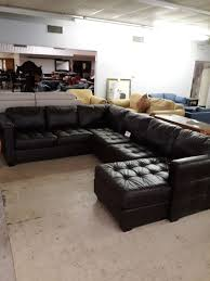 100 real leather sectional