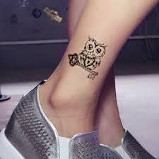 сова тело искусство сексуальные Harajuku водонепроницаемые временные татуировки для