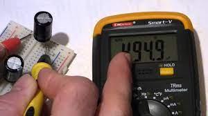 mere capacitance of capacitors
