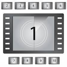 Countdown Roll Chart Holder Movie Countdown Numbers Vector Vector Premium Download