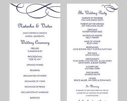 Wedding Programs Template Free Wedding Programs Template Word Major Magdalene Project Org