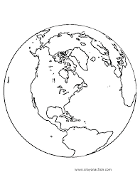 Coloring Page Of The Earth Coloring Page Earth Coloring Page Of The