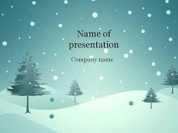 Winter Powerpoint Download Free Blue Winter Powerpoint Template For