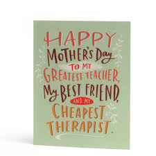 Mothers Greeting Card Cheapest Therapist Mothers Day Greeting Card