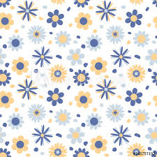 Cute Background With Flowers Floral Seamless Pattern In