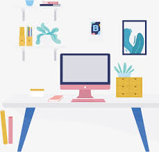 pink desktop computer free png and vector