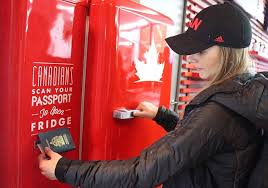 Canadian Vending Machines In Europe Enchanting Free Beer At Sochi But Only If You're Canadian Fridgestyle Vending