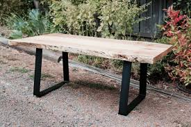 made to order wood coffee table raw slab with plans 17