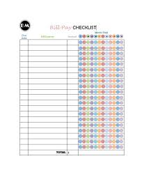 Monthly Payment Sheet 32 Free Bill Pay Checklists Bill Calendars Pdf Word Excel