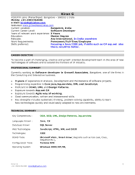 Mca Fresher Resume Format It Resume Cover Letter Sample