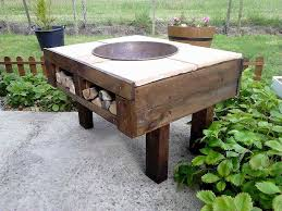 Great Wood Fire Pit Table   Amazing Dagan Industries 42 Inch Wood Burning Fire Pit Table Wood Fire Pit  Tables