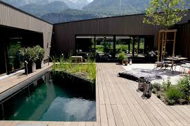 twenty square meter natural pool in switzerland