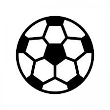 サッカーボールのシルエット02 無料のaipng白黒シルエットイラスト