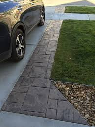 Best Mix Design For Stamped Concrete Driveway Extension In Grand Ashlar Stamped Concrete With